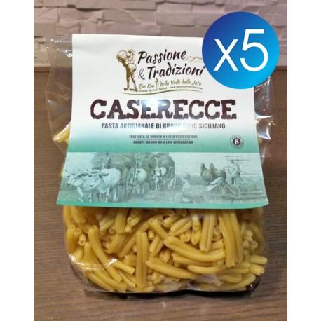5 Pacchi Caserecce di Semola di Grano Duro Siciliano Passione & Tradizioni
