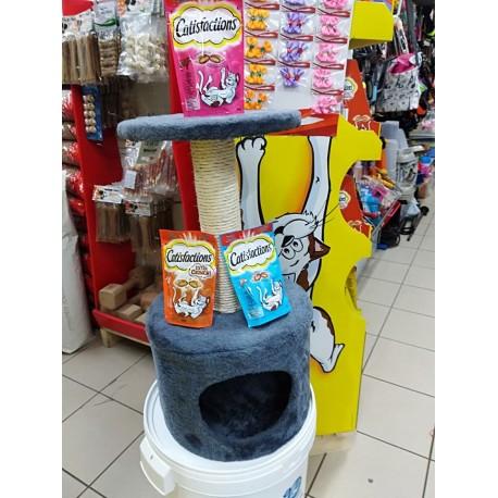 Tiragraffi con casetta tonda per gatti
