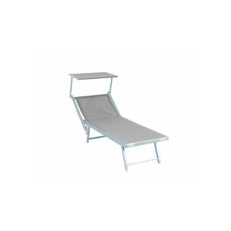 Lettino piscina in alluminio